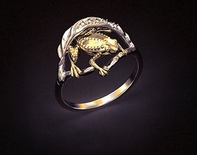 Ring frog jewelry 3d print and CNC
