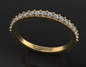 Dainty Half Diamond Band 3D print model