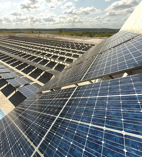 Solarmodule Version 4 - 6500mm (Blender-2.93 Cycles Render)