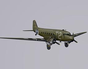 3D model Douglas C-47 Skytrain