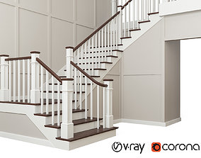 3D model Classic staircase