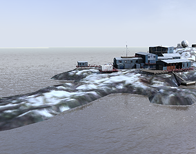 Palmer Research Station Antarctica 3d model VR / AR ready