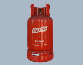 Gas Cylinder Red 3D asset