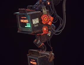 Cyberpunk Hacker Terminal V1 3D asset realtime