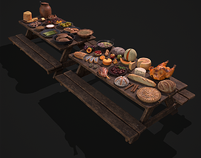 3D model Medieval Double Picnic Feast Collection
