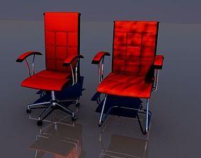 Office chair set 5 3D