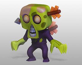 3D print model cartoon zombie