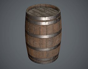 Barrel Wooden 3D model PBR
