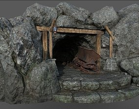 Old Mine 3D asset low-poly
