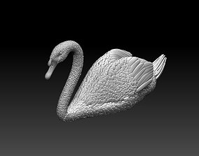 swan sculpture 3D print model birds
