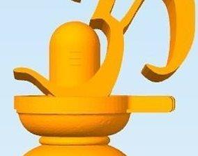 3D printable model Hindu God Shiva Linga Om
