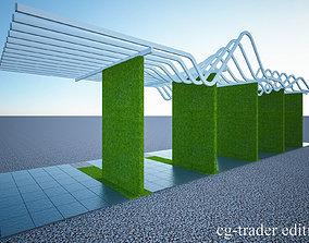 pergola- sun shade louvers 3D model crazyartist