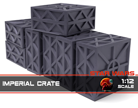 Star Wars Imperial Crate 1-12 3D print model