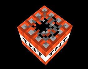 Minecraft TNT 3D Lowpoly model Vray Ready VR / AR ready 4