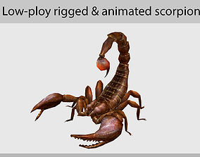 scorpion aniamation 3D model animated