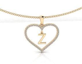 Heart Alphabet Z 3D printable model