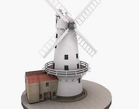 3D asset Llancayo Windmill Usk