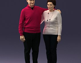 character Elderly couple 0033 3D Print Ready