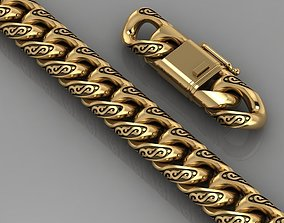 3D printable model Miami cuban link chain bracelet 0064