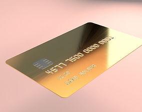 3D model Gold Customizable Credit Card