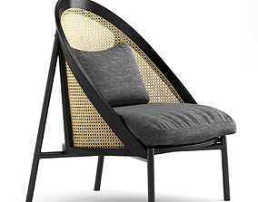 Loie Gebruder Thonet Vienna Lounge Chair 3D model