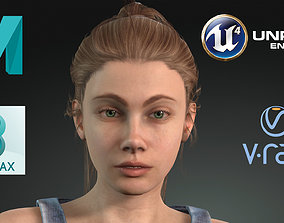 3D model Game Ready Realistic Human Girl Character Emma