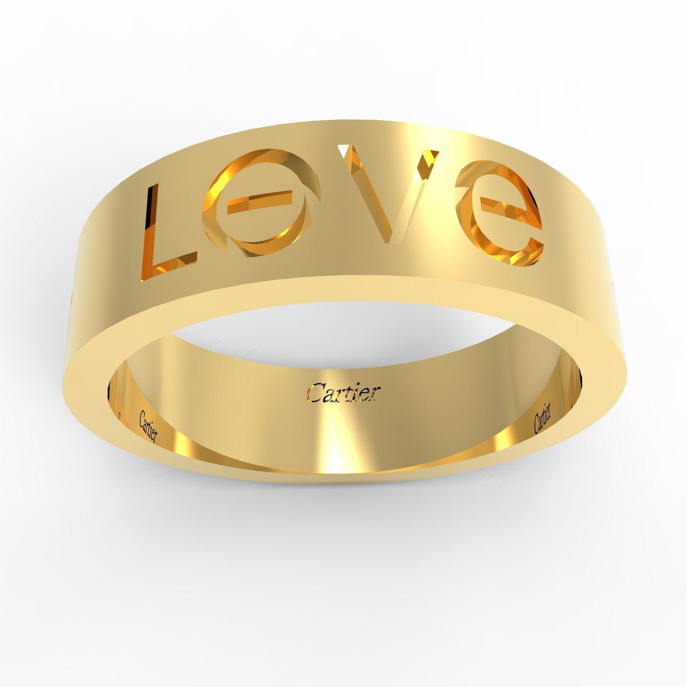 bbc6541131d5f LOVE Cartier Ring | CGTrader