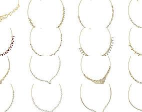 64 Bulk Women necklace-earrings set 3dm stl render detail