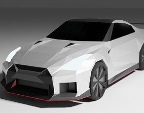 Low Poly Nissan GTR 3D model