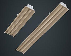 3D asset Fluorescent Bulb 1A