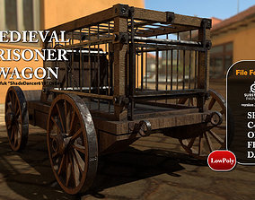 Medieval Prisoner Wagon 3D model