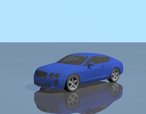 Bentley Continental GT 3D model rigged