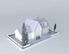 Suburban house fendi-casa 3D model