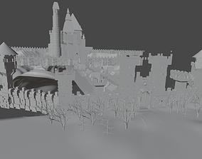 castle 3D model tower