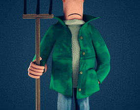 3D model Mr X from Shaun The Sheep