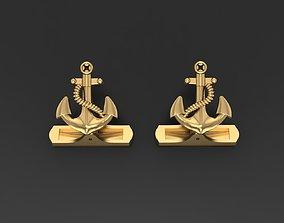 Cufflinks Anchor 3D print model