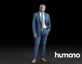 Humano Elegant Business Man Standing 0107 3D model