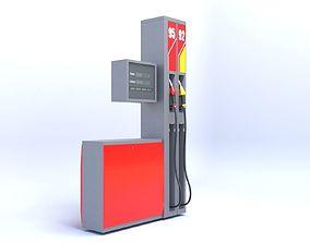 3D model Gas petrol pump oil