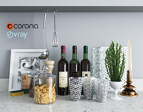 3D asset Set decor for the kitchen