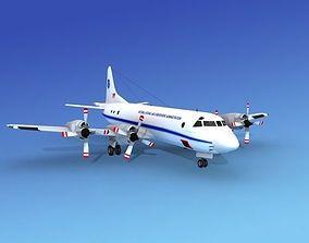 3D Lockheed P-3 Orion NOAA