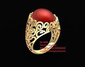 1660 Ruby Ring for women 3D print model