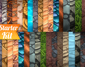 Hand Painted Textures Starter Kit 3D model