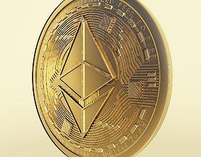3D Ethereum cryto coin token model