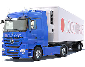 3D model Mercedes Actros Space Cab Refrigerated Semi