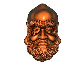 Bodhidharma first nuclear carving 3D printable model