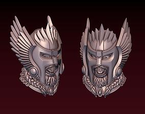 3D printable model Viking head with winged helmet