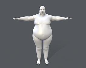 3D model Middle poly male basemesh - 2