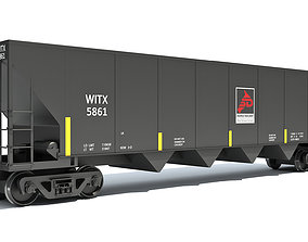 Railroad Hopper Car 3D
