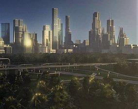 Freeway05 City 3D model