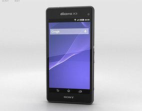 Sony Xperia A2 SO-04F Black 3D